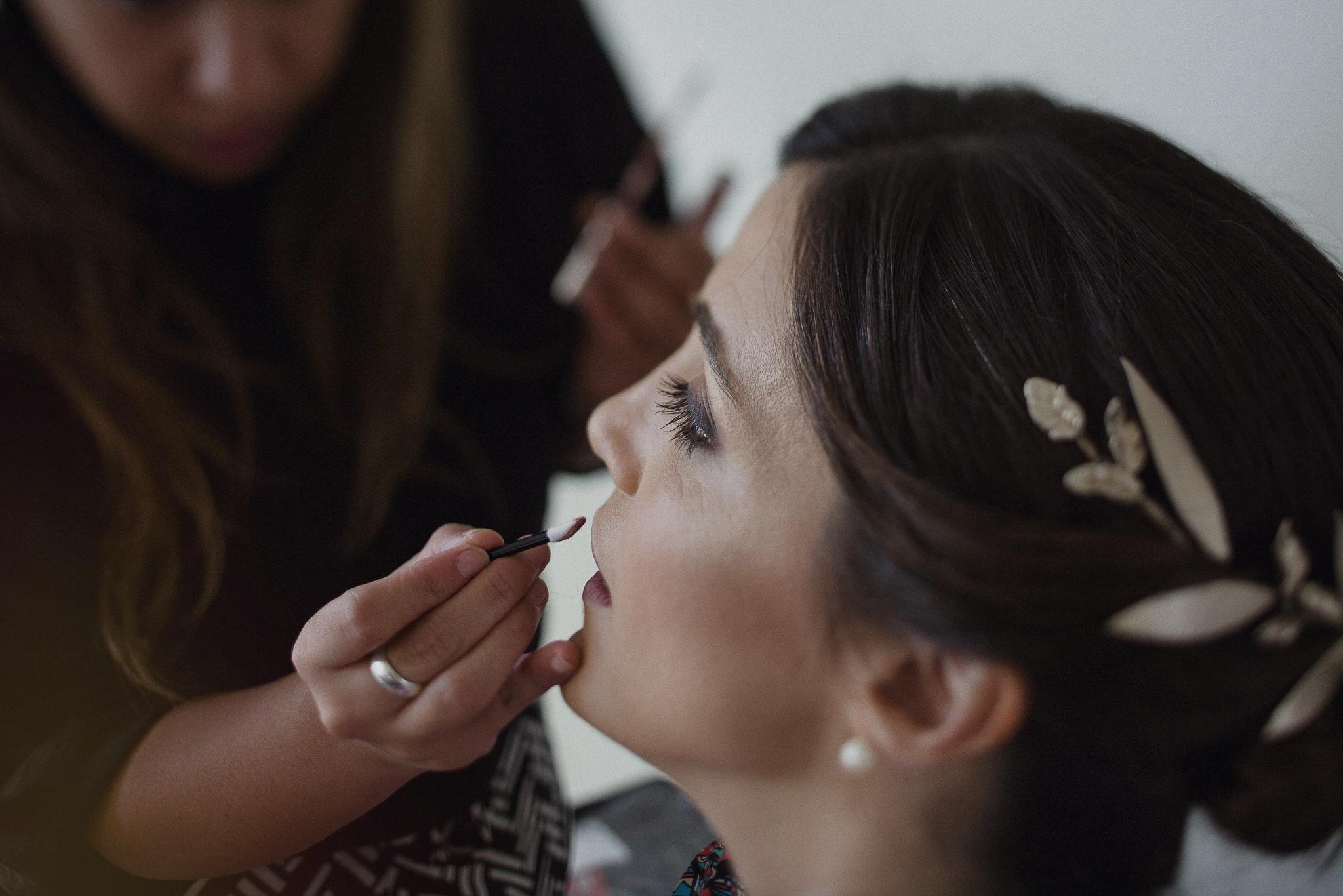 maquillaje de novia - preparativos en el hotel oliva